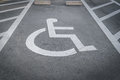 .Handicap parking Royalty Free Stock Photo