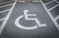 .Handicap parking Royalty Free Stock Photo