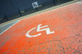 Handicap parking place Royalty Free Stock Photo