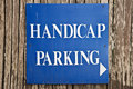 Handicap parking sign Royalty Free Stock Photo