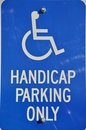Handicap parking only sign