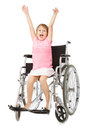Handicap positive image children expressions and emotions in white background Stock Image