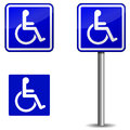 Handicap sign vector on white background Stock Image
