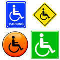 Handicap signs Stock Image