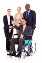 Handicapped business leader Stock Photos