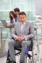 Handicapped businessman Royalty Free Stock Photo