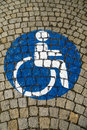Handicapped - disabled parking sign 64 Royalty Free Stock Photo
