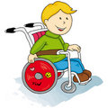 Handicapped little boy Stock Images