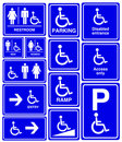 Handicapped, man and woman symbol Stock Photos