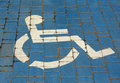 Handicapped parking sign Stock Photography