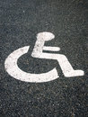 Handicapped parking sign 47 Royalty Free Stock Photo