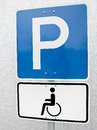 Handicapped parking sign  (1) Royalty Free Stock Photo