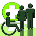 Handicapped person Royalty Free Stock Photography