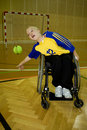 Handicapped person sport in the wheelchair Stock Photos
