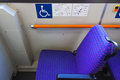 Handicapped Reserved Seat Stock Photography