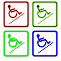 Handicapped sign Royalty Free Stock Images