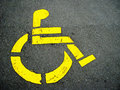 Handicapped symbol Stock Images