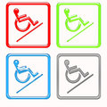 Handicapped symbols Royalty Free Stock Photos