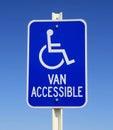 Handicapped van parking sign Stock Photo