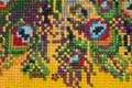 Handicraft, cross-stitch, beautiful bright background