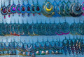 Handicraft earings seen in delhi hat fair Royalty Free Stock Image
