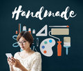 Handicraft Handmade Handiwork Art Design Ideas Concept Royalty Free Stock Photo