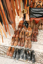 Handicraft leather wares Royalty Free Stock Photo