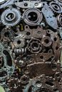Handicraft metal artwork from used spare parts Royalty Free Stock Photo