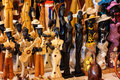 Handicraft for sale in a cuban street market Royalty Free Stock Photography