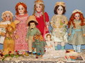 Handicrafts antique dolls at the th moscow international exhibition of collectible dolls art of dolls in in december Stock Photos