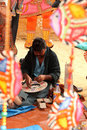 Handicrafts artist at Surajkund, India Stock Photo