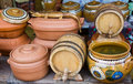 Handicrafts-receptacles Stock Image