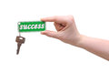 Handing over keys to success Royalty Free Stock Images