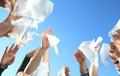 Handkerchief on the Sky Royalty Free Stock Photo