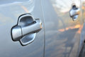 Handle of car closeup Royalty Free Stock Photography