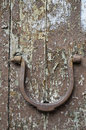 Handle of a door characteristic in the shape horseshoe Royalty Free Stock Image