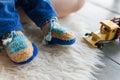 Handmade baby booties Royalty Free Stock Photo