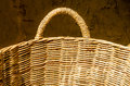 Handmade basket made from bamboo Stock Photography