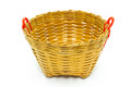 Handmade basket on a white background Stock Images