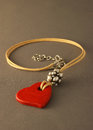 Handmade bijoux heart Royalty Free Stock Photos