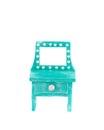 Handmade blue toy bureau. Royalty Free Stock Photo