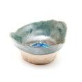 Handmade ceramic pinch pot on white Royalty Free Stock Photo