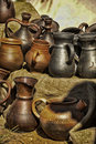 Handmade ceramic pottery Royalty Free Stock Images