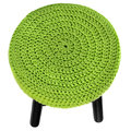 Handmade chair. Stool in green black. Royalty Free Stock Photo