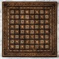 Handmade Chessboard on Marble Background