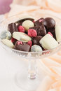Handmade chocolate candies Royalty Free Stock Photo