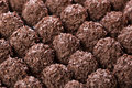 Handmade chocolates ball Royalty Free Stock Photo