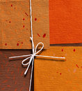 Handmade color papers Stock Images