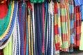 Handmade colorful hammocks on sale Royalty Free Stock Photo