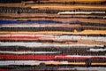 Handmade Cotton Rug Texture Royalty Free Stock Photo